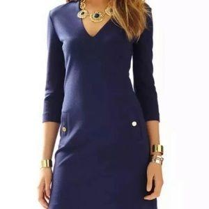 Lilly Pulitzer Charlena Shift Blue Dress Large New